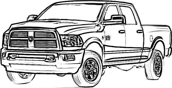 Dodge Truck Coloring Page Pictures