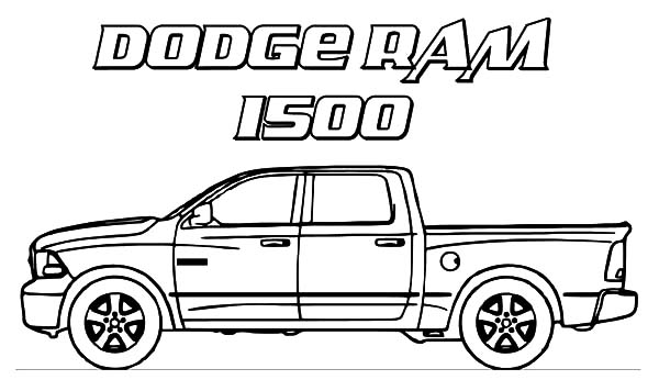 dodge car ram 1500 trucks coloring pages - Coloring Pages Cars Trucks