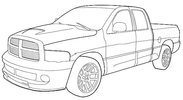 Dodge Car Ram SRT 10 Coloring Pages Coloring Sky