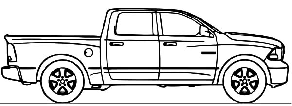 dodge car ram truck coloring pages