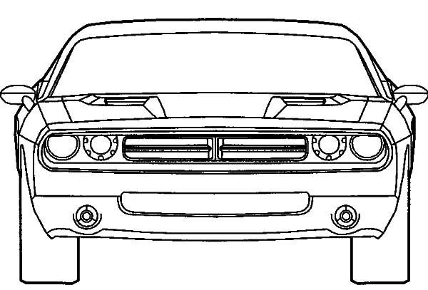dodge challenger car coloring pages  dodge challenger car