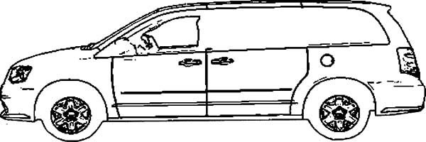 dodge grand caravan car coloring pages - Car Coloring Page
