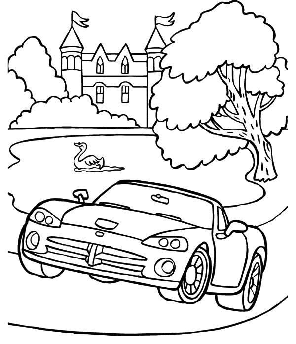 Dodge Cars, Dodge Viper Drag Car Coloring Pages: Dodge Viper Drag Car  Coloring PagesFull