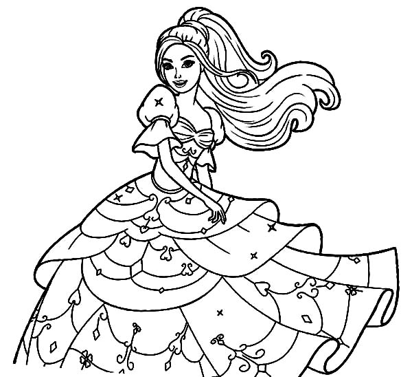 Doll Dress Coloring Pages | Coloring Sky