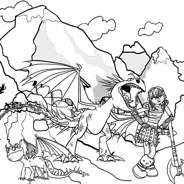 Stormfly dragon coloring pages the for How to train your dragon 2 coloring pages