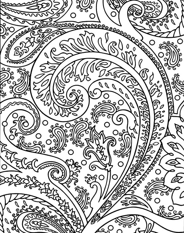 Flower Abstract Coloring Pages : Blossom flower abstract coloring pages sky
