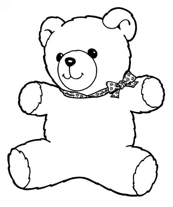 Holidays Teddy Bear Wrapped In Big Box Coloring Pages Coloring Sky - teddy bear coloring pages for adults