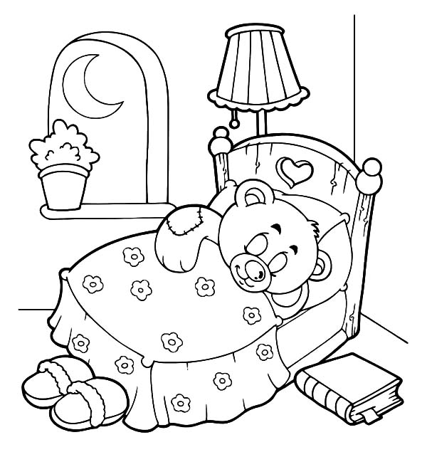Goodnight Holidays Teddy Bear Coloring Pages: Goodnight Holidays ...
