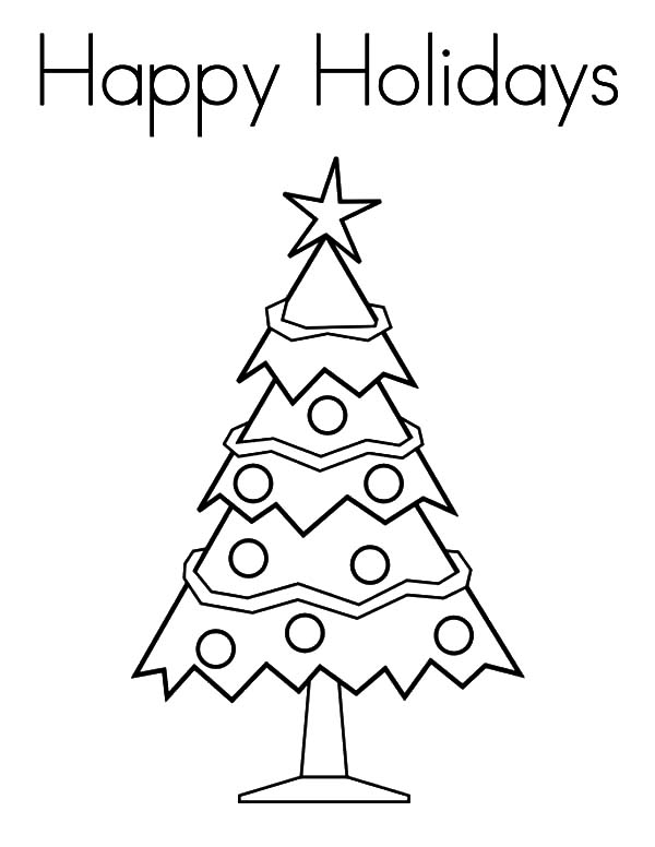 happy holidays to all of us coloring pages