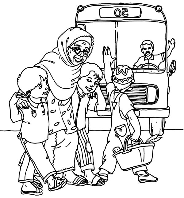 coloring pages children helping - photo#24