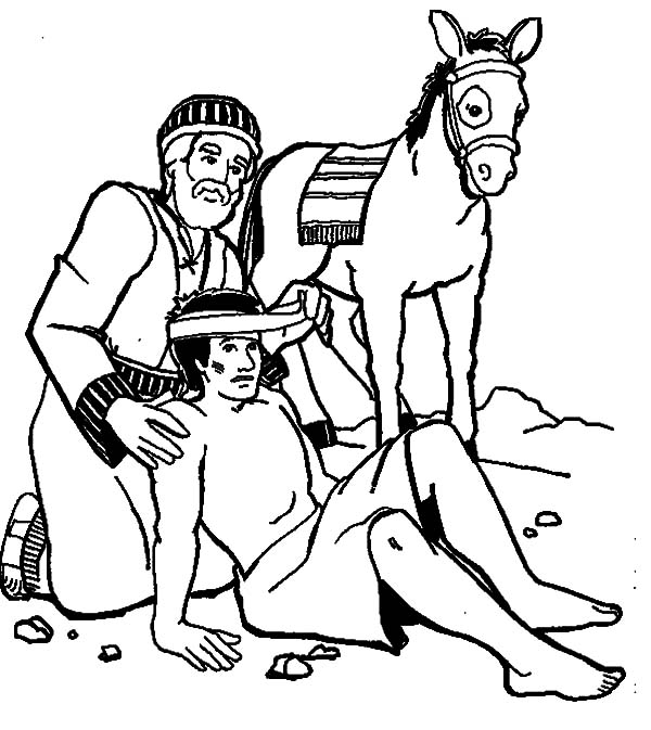 Helping Others Falling From His Ride Coloring Pages