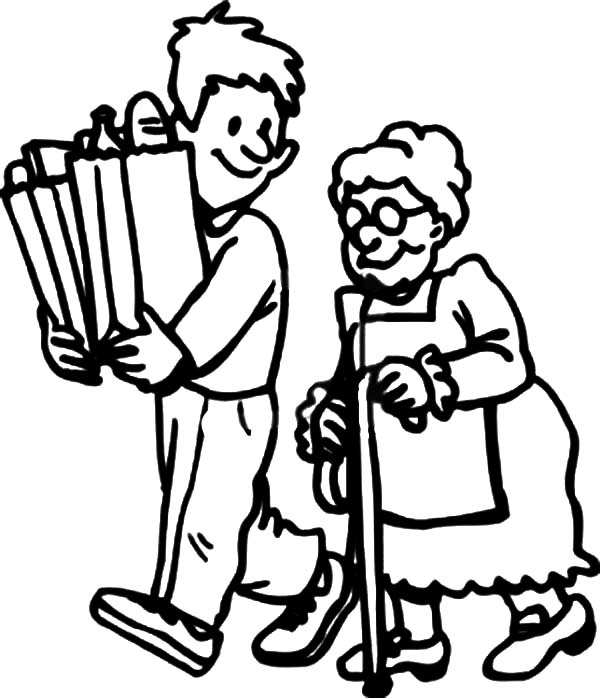 coloring pages children helping - photo#35