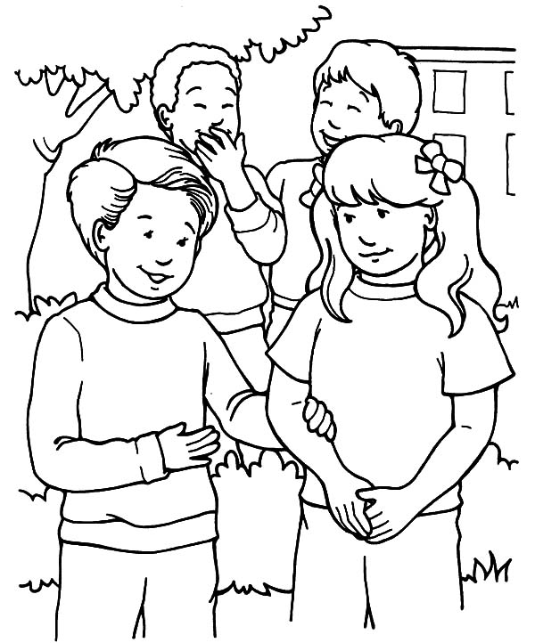 coloring pages children helping - photo#39