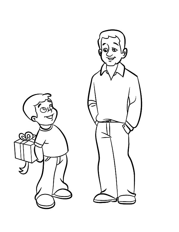 hide surprise gift for daddy i love dad coloring pages - Dad Coloring Pages