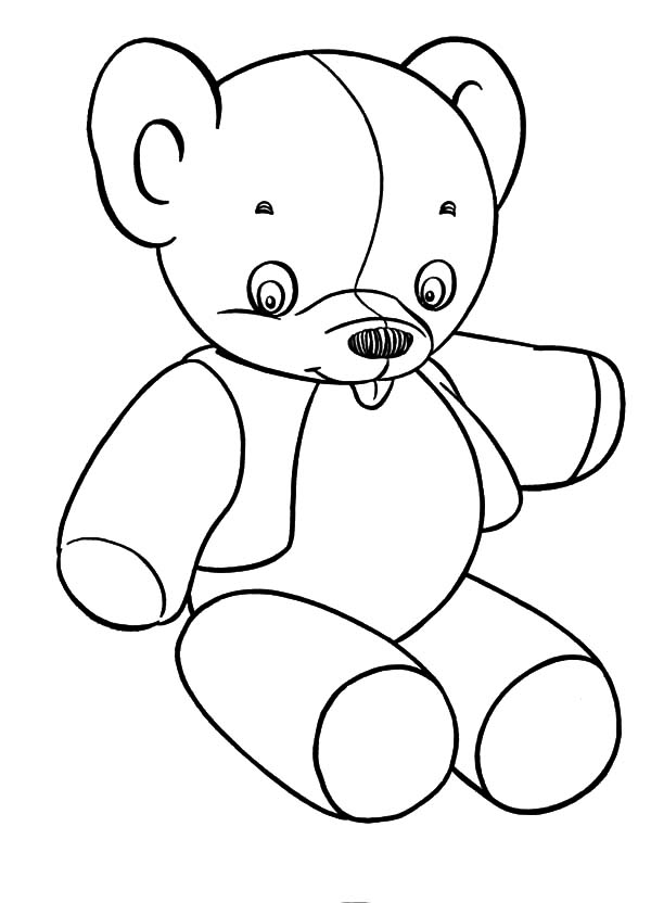 holidays teddy bear slipped tongue coloring pages coloring sky