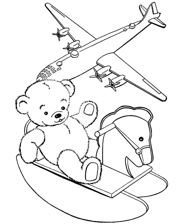 Boy Toys Template : Scary teddy bear coloring pages