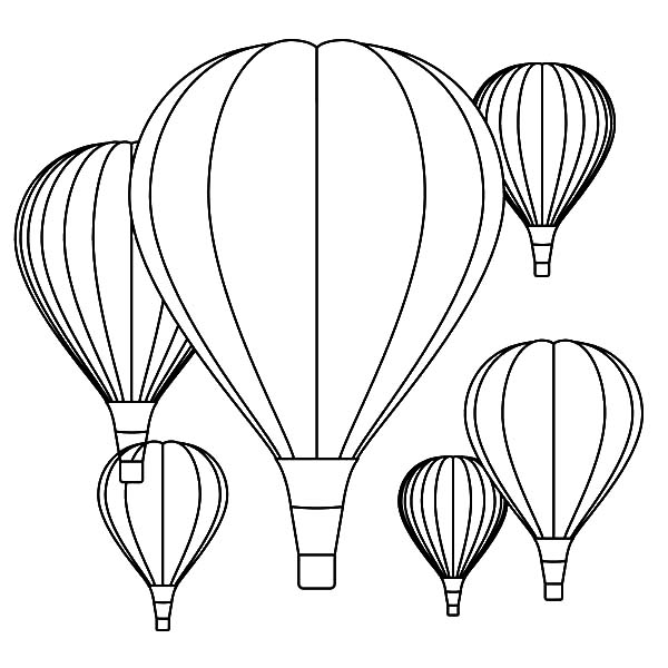 greeting the sun from hot air balloon coloring pages