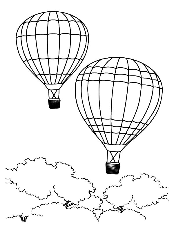 air balloon coloring pages - photo#20