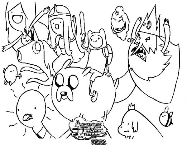adventure time characters coloring pages - photo#25