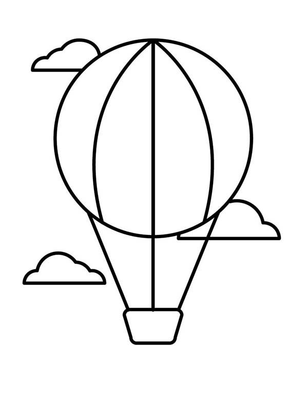 How to Draw Air Balloon Coloring Pages  Coloring Sky