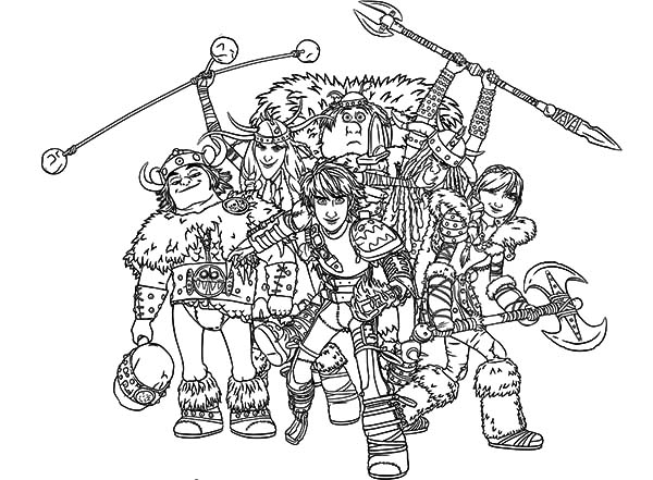 How To Train Your Dragon All Characters Coloring Pages