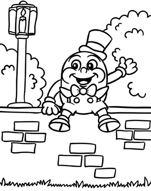 Humpty dumpty all the kings men coloring pages coloring sky for Humpty dumpty coloring pages