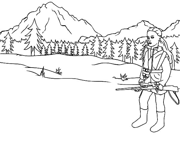 Hunting At Pinery Coloring Pages