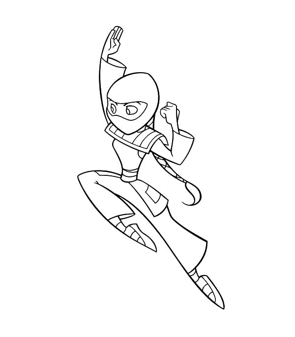 Huntsgirl Clan Enemy of American Dragon Coloring Pages  Coloring Sky