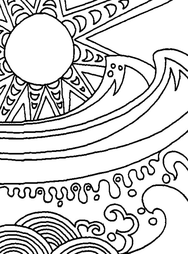 coloring pages black | Black Hole Abstract Coloring Pages | Coloring Sky
