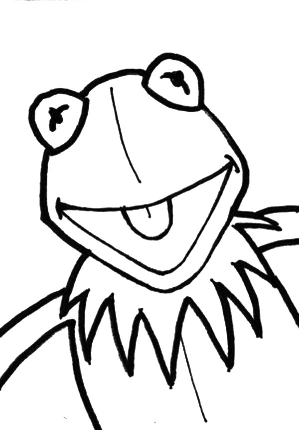 Kermit The Frog Coloring Pages For Kids Coloring Sky