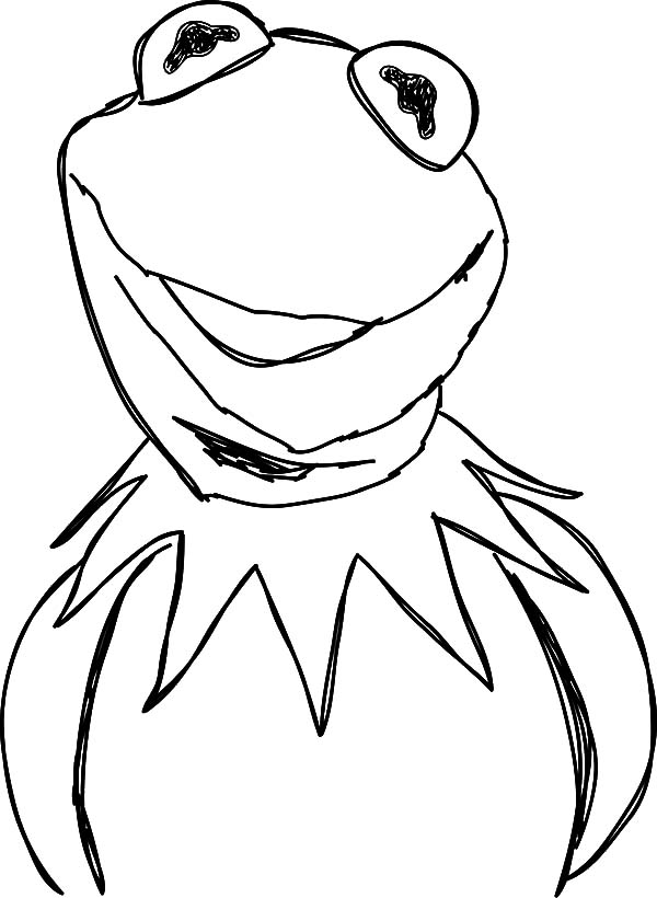 the muppets kermit the happy frog coloring pages. kermit the frog ...