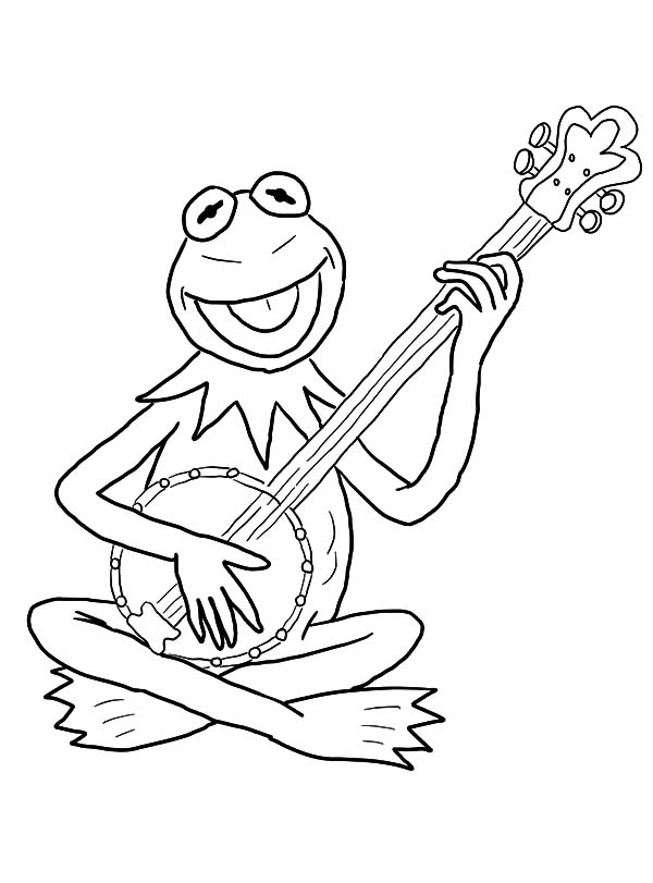 Kermit the Frog Laughing Coloring Pages Coloring Sky