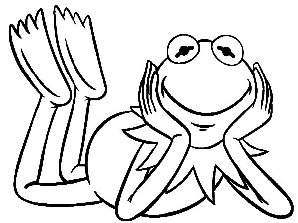 Kermit the frog kermit the frog from the muppets show coloring pages kermit the