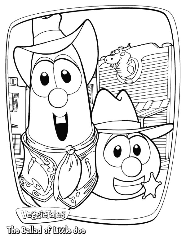 Veggie tales characters larry boy and friends coloring for Veggie tales coloring pages