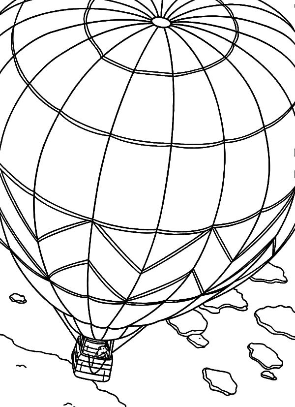 pre kids hot air balloon coloring pages sky