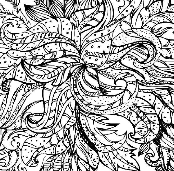 leaves abstract coloring pages