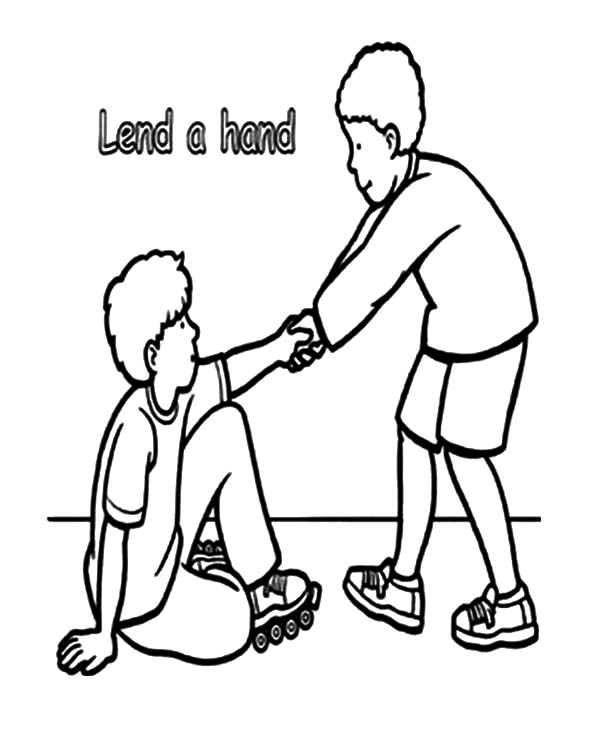 Lend A Hand And Helping Others Coloring Pages