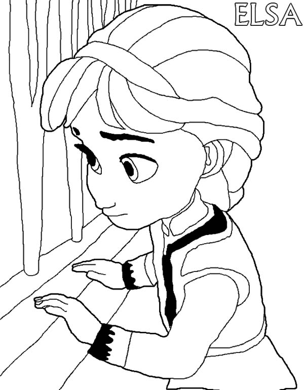 Little elsa free colouring pages for Coloring pages elsa