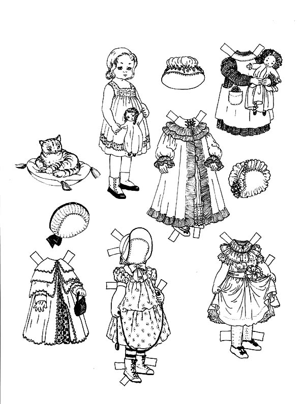 82 Eskimo Doll Dress Up Game Coloring Page