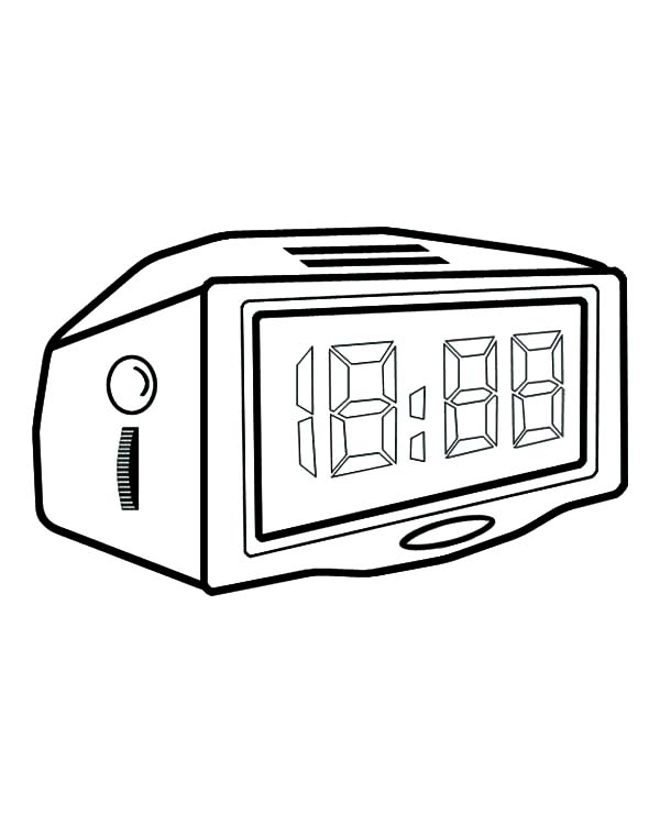 alarm clock point to 3 o u2019clock coloring pages