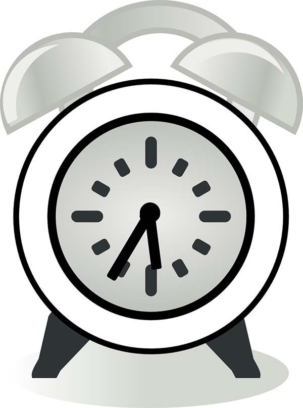 Morning Alarm Clock Coloring Pages