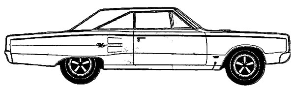 Muscle Car Dodge Coronet Coloring Pages | Coloring Sky