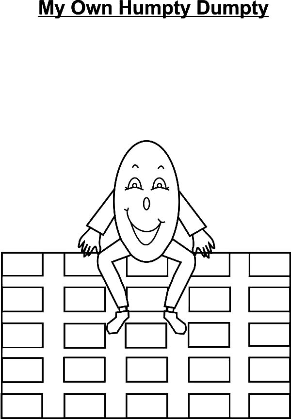 Smiling Humpty Dumpty Coloring Pages Smiling Humpty