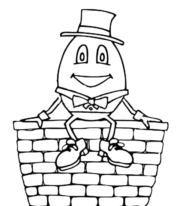 Nursery Rhyme Humpty Dumpty Coloring Pages Coloring Sky