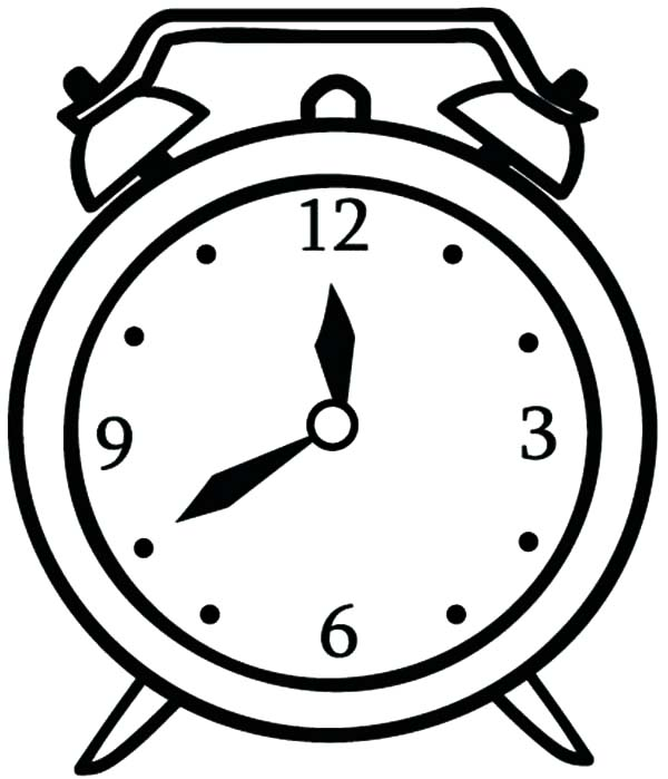 Alarm Clock Picture Of Coloring Pages