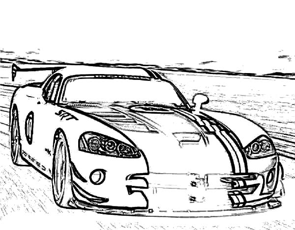 Viper Car Coloring Pages : Dodge viper free colouring pages