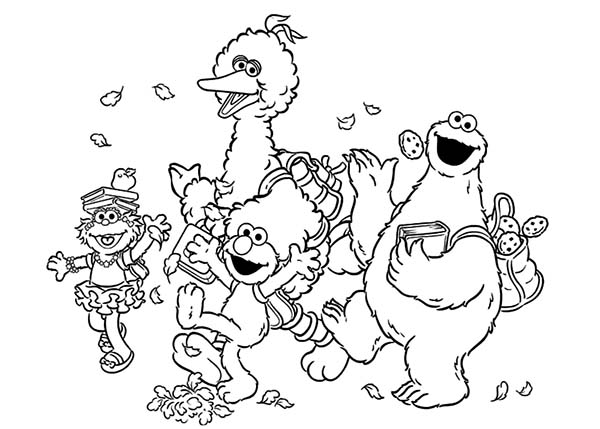 The best place for coloring page at coloringsky part 31 for Sesame street color pages