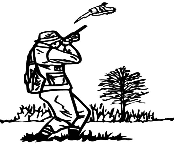 Shooting Practice For Hunting Coloring Pages Coloring Sky Shooting Coloring Page
