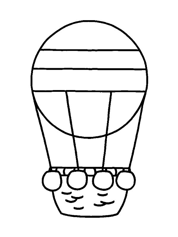 kids n fun 11 coloring pages of hot air balloons