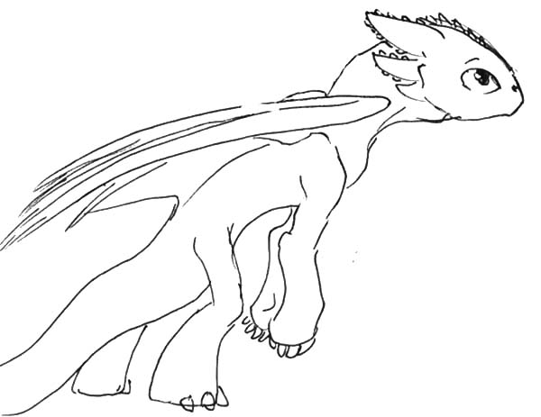 Skinny Toothless In How To Train Your Dragon Coloring Pages
